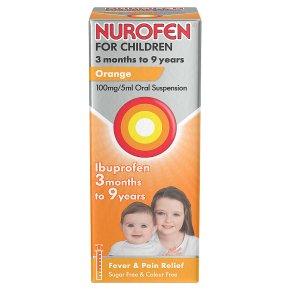 Nurofen For Children Ibuprofen Orange