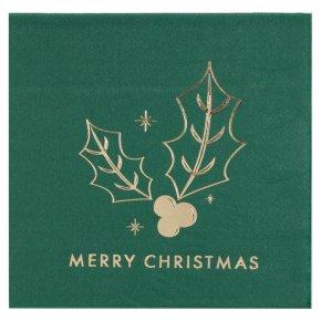 Ginger Ray Merry Christmas Napkins