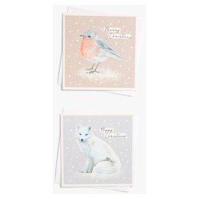 John Lewis Christmas Fox & Robin Card