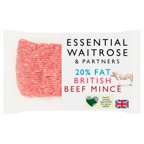 Essential Britsh Beef Mince 20% Fat