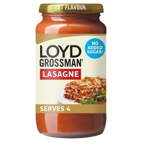 Loyd Grossman No Added Sugar Tomato Lasagne Sauce