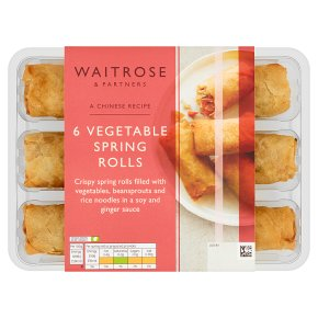 Waitrose Chinese 6 Vegetable Spring Rolls