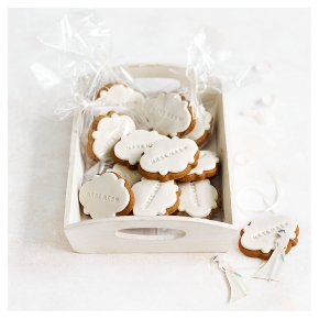 12 Mrs & Mrs Gingerbread Wedding Biscuits