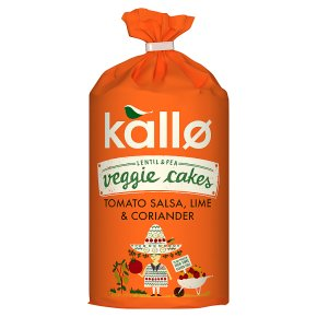 Kallo Veggie Cakes Tomato Salsa, Lime & Coriander
