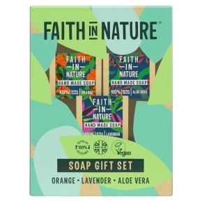 Faith In Nature Nature Soap Trio