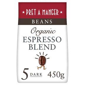 Pret a Manger Organic Espresso Blend Whole Beans