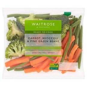 Waitrose Carrot, Broccoli & Fine Green Beans
