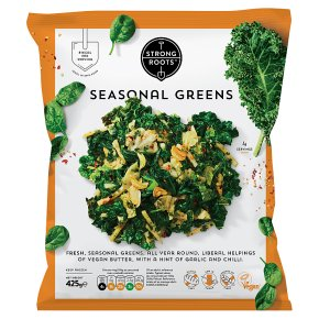Strong Roots Seasonal Greens with Garlic and Chilli