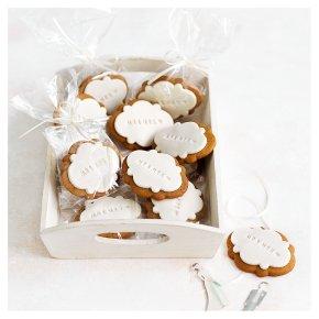 12 Mr & Mrs Gingerbread Wedding Biscuits
