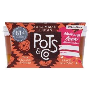 Pots & Co Colombian Origin 61% Dark Chocolate & Orange
