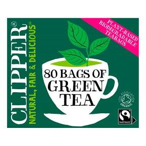 Clipper Fairtrade Green Tea 80 Tea Bags