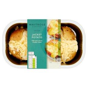 Waitrose 2 Cheesy Filled Jacket Potatoes