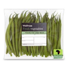 Trimmed fine green beans
