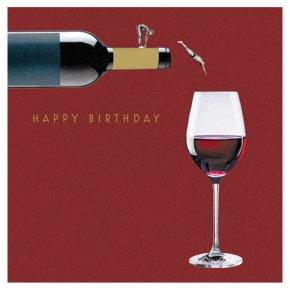 Dive into Wine Happy Birthday Card