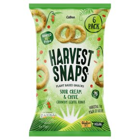 Harvest Snaps Sour Cream & Chive Lentil Rings 6 pack