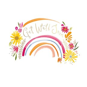 Rainbow Get Well Soon Card