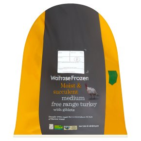 Waitrose Frozen Medium Free Range Turkey with Giblets