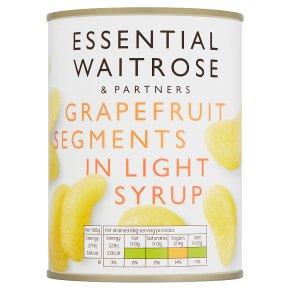 essential Waitrose grapefruit segments in light syrup