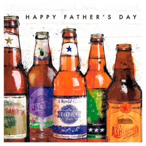 Beer Bottles Fathers Day Card