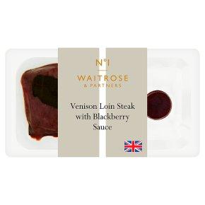 No.1 Venison Loin Steak & Blackberry Sauce