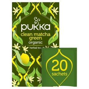 Pukka Clean Matcha Green 20 Green Tea Sachets