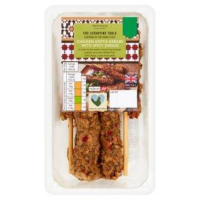 Levantine Table Chicken Kofta Kebabs with Spicy Zhoug