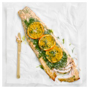 Salmon Side with Orange, Mustard & Dill