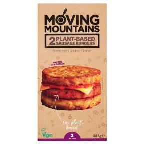 Moving Mountains 2 Plant-Based Sausage Burgers