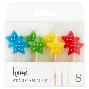 Waitrose Party Star Candles