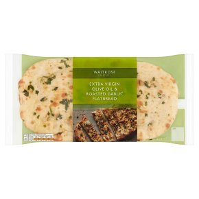Waitrose Extra Virgin Oil & Garlic Flatbread