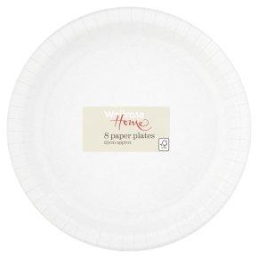 Waitrose Home White Paper Plates