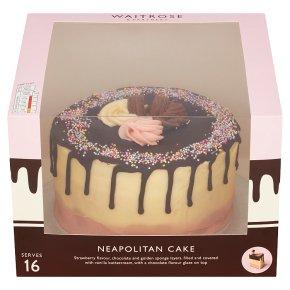 Waitrose Neapolitan Celebration Cake