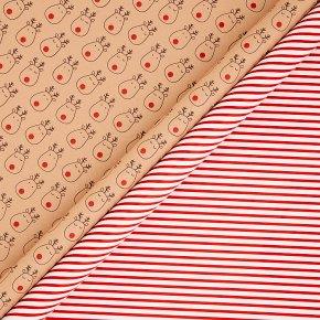 John Lewis Rudolph/Candy Stripe Wrap 4m