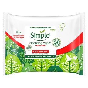 Simple Anti-Bac Cleansing Wipes