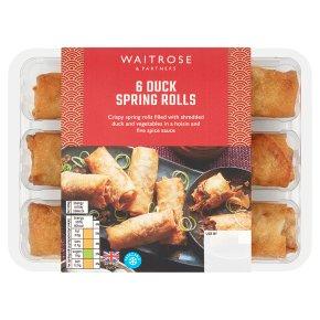 Waitrose Chinese 6 Duck Spring Rolls