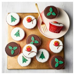 12 Festive Cupcakes
