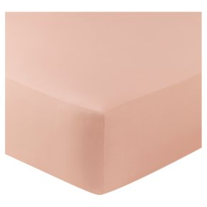 John Lewis Egyptian Cotton Fitted Sheet Blush Double