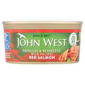 John West wild red salmon skinless & boneless