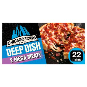 Chicago Town 2 Deep Dish Pizzas Mega Meaty