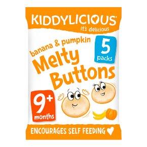 Kiddylicious Banana & Pumpkin Buttons