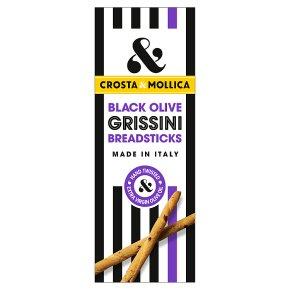 Crosta & Mollica grissini black olive