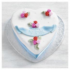 Rosebuds Heart Cake