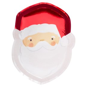 Ginger Ray Santa Shaped Paper Plates