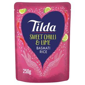 Tilda steamed basmati rice sweet chilli & lime