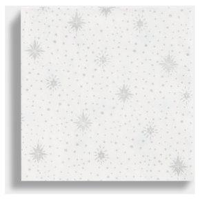 TT Silver Snowflake Napkin 33cm
