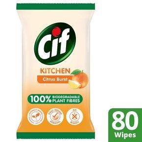 Cif Kitchen Citrus Burst Wipes