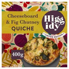 Higgidy Cheeseboard & Fig Chutney Quiche