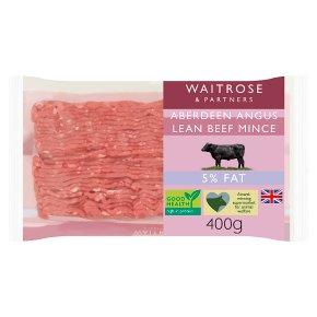 Waitrose Aberdeen Angus Beef Lean Mince 5% Fat