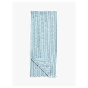 John Lewis Chevrom Pattern Table Runner Blue/White