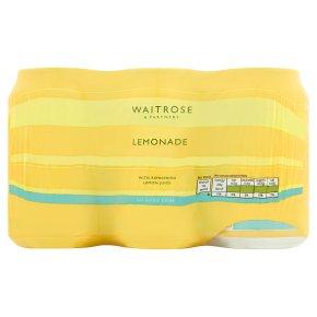 Waitrose lemonade with lemon juice no added sugar